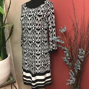 I.N.C. Black and White Print Dress